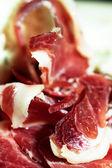 Iberian acorn ham serrano — Stock Photo