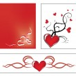 Valentine ornaments — Stock Vector