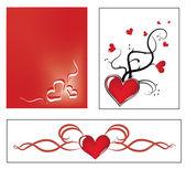 Valentine ornaments — Stock Vector