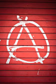 Sinal de anarquia — Fotografia Stock