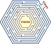 Labyrinthe hexagonal - labyrinthe — Photo