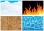 The four elements — Stock Vector