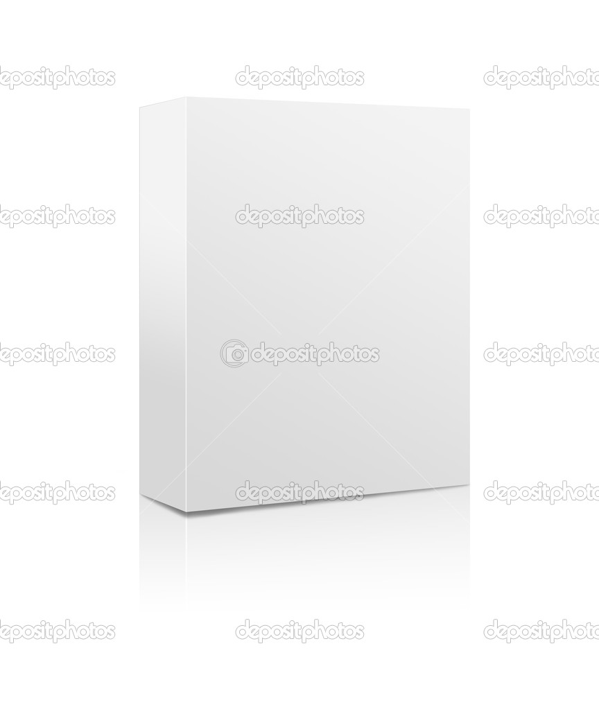 3D rendering of a blank white software box   #9791032