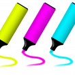 Colorful highlighters — Foto de Stock
