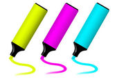 Colorful highlighters — Stock Photo