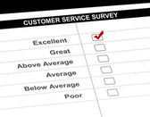 Modulo di indagine servizio clienti — Foto Stock