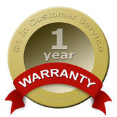 Customer service warranty seal — Stock Photo