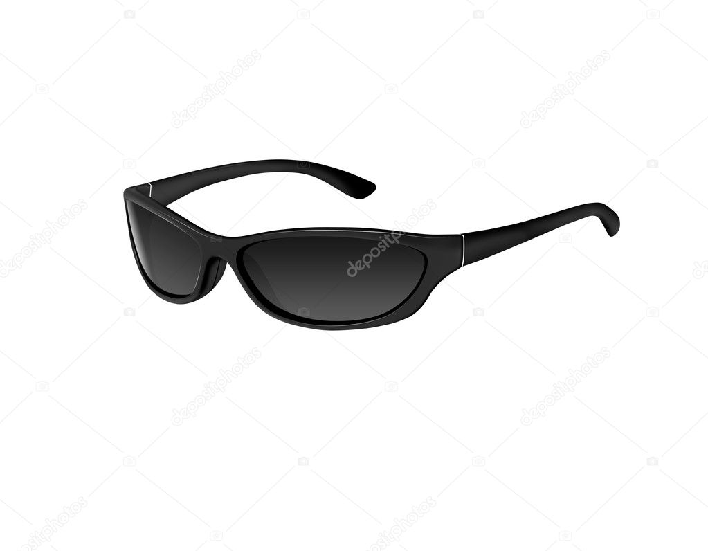 Pair of sunglasses isolated on white  Stock Photo #9838309