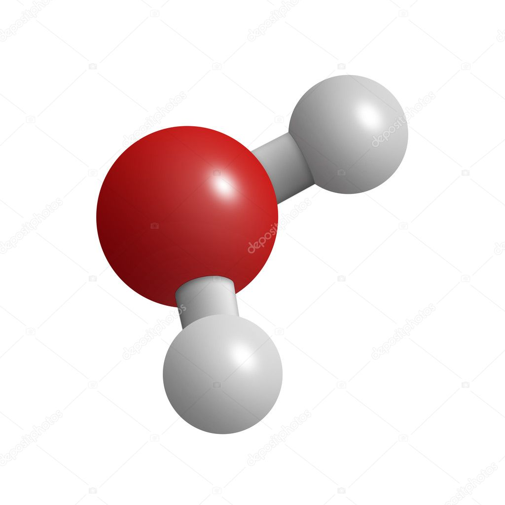 H2O water molecule — Stock Photo © cnapsys #9838348