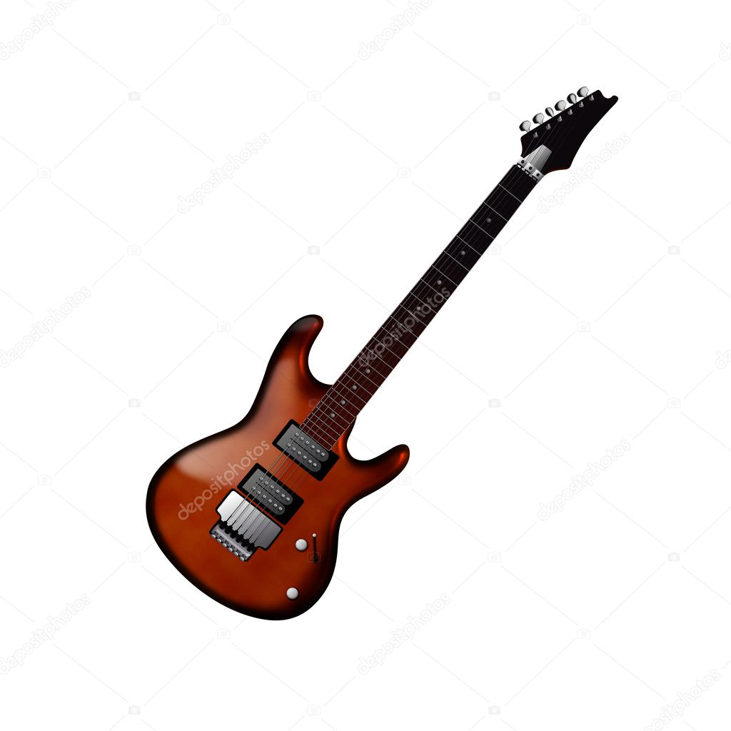 3D rendering of an electric guitar — Stock Photo #9838350