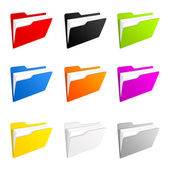 Colorful folder icons — Stock Photo