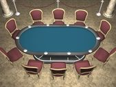 Poker table — Stock Photo
