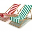 beach chairs — Stock Photo