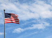 US flag on pole — Stock Photo