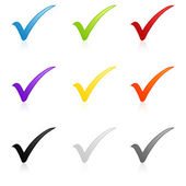 Colorful check mark set — Stock Photo