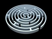 Round maze — Stock Photo