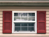Window and shutters — Stock Photo