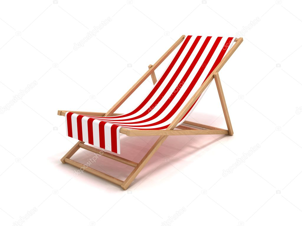 3D rendering of a beach chair — Stock Photo #9878207