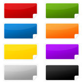 Colorful labels — Stock Photo