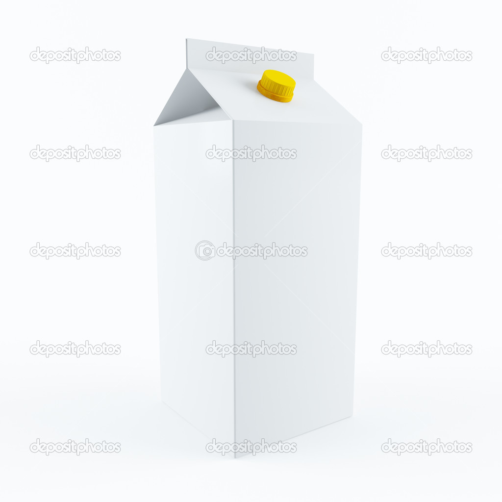3D rendering of a milk carton — Foto Stock #9910282