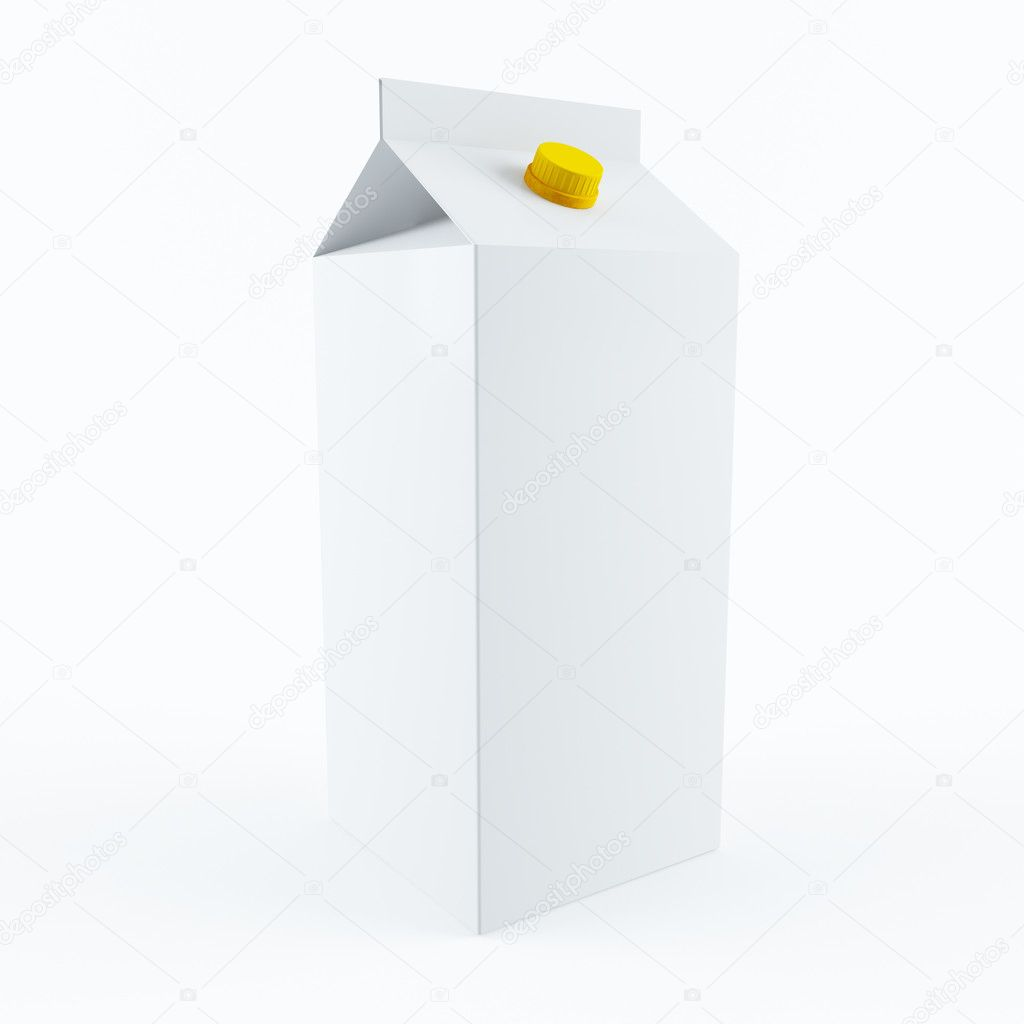 3D rendering of a milk carton — Photo #9910282