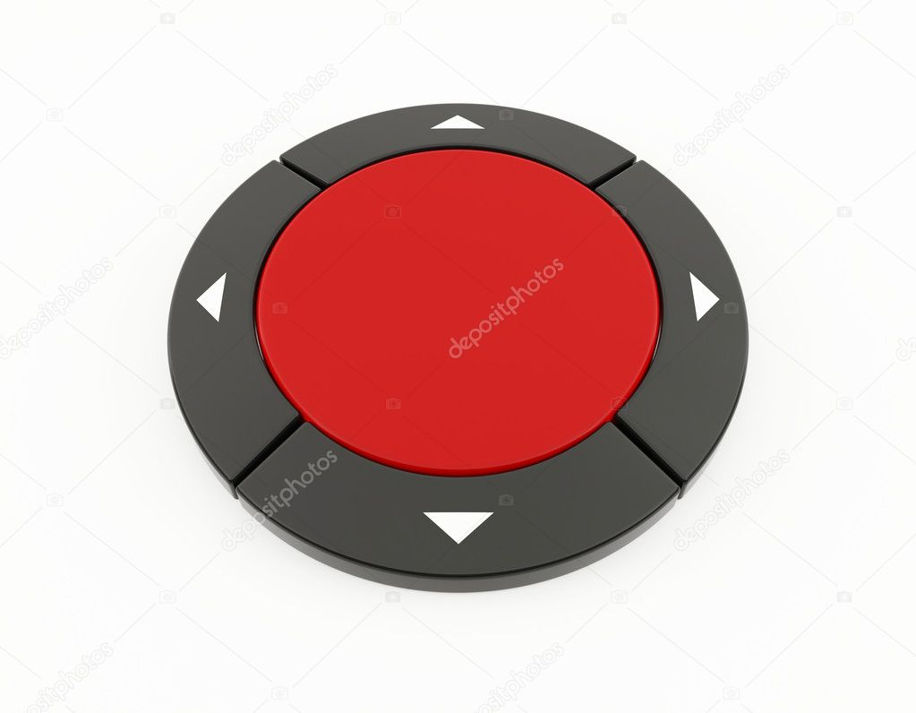 3D rendering of a red control button — Stock Photo #9911202