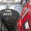 LONDON, UK - APRIL 30: Details of the Ritz hotel entrance, with — Stock Photo