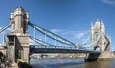 LONDON, UK - APRIL 30: Panoramic shot of Tower Bridge. April 30, — Zdjęcie stockowe