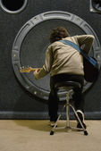 基地吉他狂热. — 图库照片