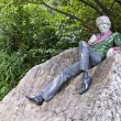 Statue of Oscar Wilde — Stock Photo