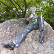 Stock Photo: Statue of Oscar Wilde