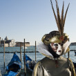 Venice Carnival Performers — Stock Photo