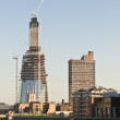 LONDON - OCTOBER 25: Shard building construction. October 25, 20 — Stock Photo