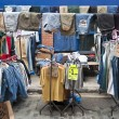 Clothing stall in Bricklane market. London, October 17, 2010 — Stock Photo