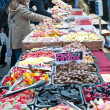 Sweets stall in Bricklane market. London, October 17, 2010 — Stock Photo