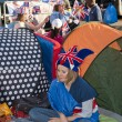 Royal Wedding 2011 Campers — Stock Photo