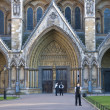 Westminster Abbey being guarded — Stock Photo