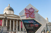 LONDON - June 03: Official countdown clock for the Olympic and P — Stock Photo