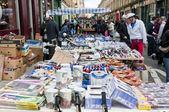 Stall in Bricklane market. London, October 17, 2010 — Stock Photo