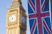Big Ben with Union Flag — Stock Photo