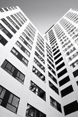 Office building in black and white — Stock Photo