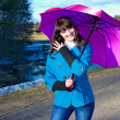Woman with umbrella — Stock Photo #9828484