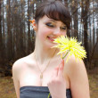 Woman with flower — Stock Photo #9938991