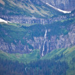 View of Mountains in Glacier National Park — Stock Photo