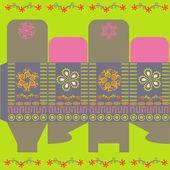 Happy present box — Stock Vector