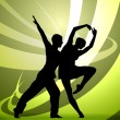 Dancers vector — Stock Vector #9822930