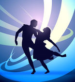 Dancers vector — Stock Vector