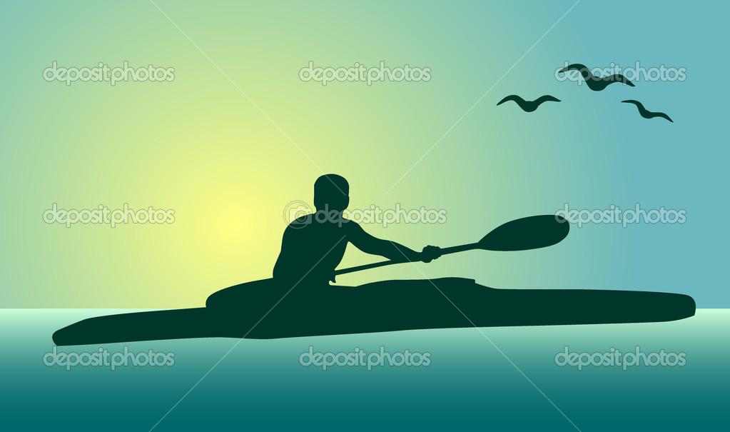 Kayaker — Stock Vector #9823900