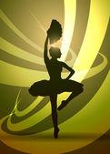 Silhouette of a ballerina — Stock Vector