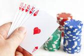 Hacer trampa en las cartas — Foto de Stock